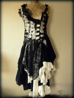 recycled fashion-ethical design-vintage fabrics-bohemian clothing - Decadent dresses