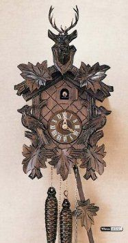 Amazon.com: German Cuckoo Clock 1-day-movement Carved-Style 14 inch - Authentic black forest cuckoo clock by Anton Schneider: Home & Kitchen