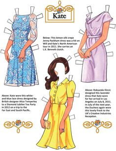 Welcome to Dover Publications Kate: The Duchess of Cambridge Paper Dolls pg 2