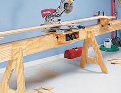 Space-Saving Miter Saw Stand Woodworking Plan