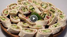 Wraps - recept | 24Kitchen Rudolph's Bakery, Stollen Recipe, Pizza Wraps, Buffet, Baking With Kids, Tapas, Finger Foods, Brunch, Easy Meals