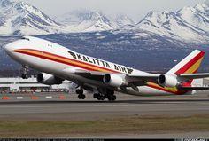 Kalitta Air Cargo 747-4HQF(ER) rotates from Ted Stevens Airport, Alaska