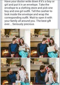 Cute baby reveal idea...