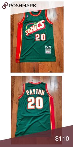 70d669320b5 Mens NBA Retro Gary Peyton Super Sonics JERSEY Comment For Size We Have S -  L