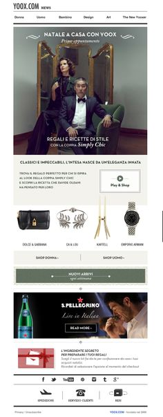 #newsletter Yoox 11.2013 Regali ispirazione Simply Chic - Natale a casa con YOOX