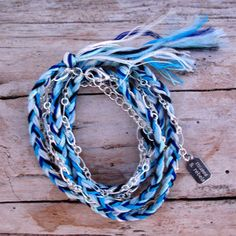 Braided Wrap Bracelet Silver, now featured on Fab.