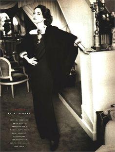 1988 - Loulou de la Falaise in YSL by Arthur Elgort 4 Vogue