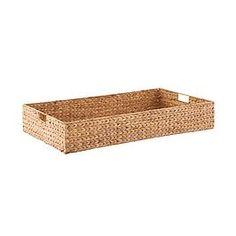 Water Hyacinth Coffee Table/Under Bed Bin - Modern Toy Storage Cubes, Under Crib Storage, Hidden Storage, Storage Baskets, Pantry Baskets, Under Bed Basket, Girl Nursery Bedding, Navy Nursery, Dresser Storage