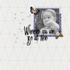 Be Here Sparkleheart Digital scrapbook layout using Presence Bundle