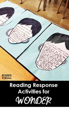 Teach Your Child to Read - Rundes Room - Reading Response Activities for Wondernot sure how to read longer… - Give Your Child a Head Start, and.Pave the Way for a Bright, Successful Future. Reading Response Activities, Teaching Reading, Book Activities, Reading Resources, Teacher Resources, Wonder Novel, Wonder Book, Reading Wonders, 5th Grade Reading