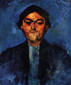 Amedeo Modigliani - The Typographer (Pedro), 1909, oil on canvas