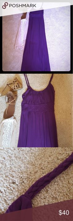"""🎉HP🎉 Purple Maxi Dress 🎉Casual Friday Host Pick 6/15!🎉 ⭐I love this dress because it's so versatile! It's very soft and breathable, not to mention the color is to die for! ⭐Measurements taken lying flat: Length: 59"""" Bust: 13.5"""" Waist: 12"""" Hip: 14"""" ⭐Material: 100% rayon. ⭐Condition: No known flaws! ⭐If you have any questions, please don't hesitate to ask! 😊 Banana Republic Dresses Maxi"""