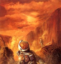 Bob Eggleton - Inclement Weather, 1994 (cover of Absolute Magnitude magazine Arte Sci Fi, Sci Fi Art, Space Artwork, Artwork Images, Magazine Illustration, Illustration Art, Arte Pulp Fiction, Z Arts, Book Cover Art