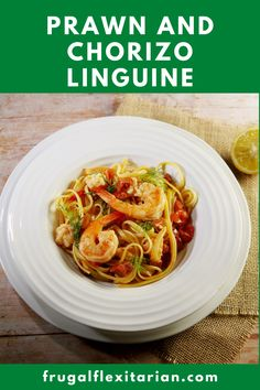 Quick and easy supper dish with prawns, chorizo, tomatoes and fennel served with linguine pasta #pasta #prawn #chorizo #fennel #easycooking Linguine Recipes, Easy Pasta Recipes, Simple Recipes, Easy Healthy Recipes, Delicious Recipes, Best Seafood Recipes, Shellfish Recipes, Easy Recipe To Make At Home, Food To Make