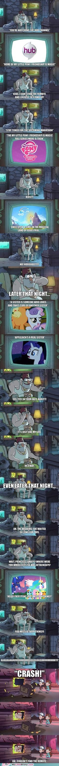 Seriously though, why wasn't Luna in that episode? I mean it's not like she's allergic to daylight. She and Celestia should have face rolled Chrysalis.
