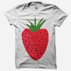 White Strawberry T-Shirt $15.00