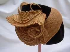 Reserved Black and Straw Hat by G. Howard Hodge#millinery #judithm #hats