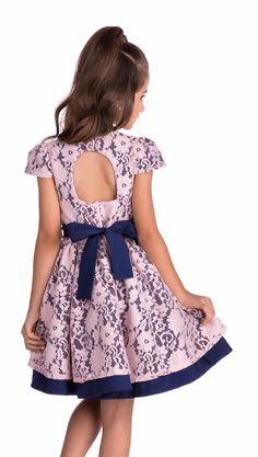 Vestido Diforini Moda Infanto Juvenil 011009 Toddler Girl Outfits, Baby Girl Dresses, Baby Dress, Flower Girl Dresses, Outfits Niños, Kids Outfits, Party Fashion, Kids Fashion, Kids Dress Patterns