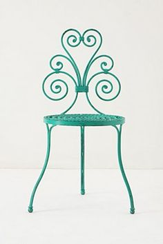 Le Versha Chair, Turquoise | Anthropologie.