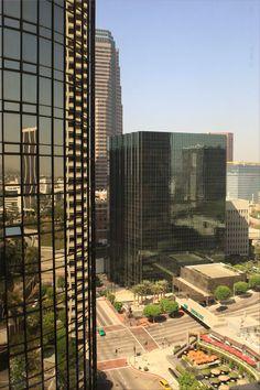 Downtown Los Angeles - view from the Westin Bonaventure - S Figueroa Street - Los Angeles, LA, California, USA