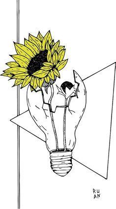 Pencil Art Drawings, Art Drawings Sketches, Easy Drawings, Planet Drawing, Flower Art Drawing, Psy Art, Soul Art, Arte Horror, Art Sketchbook