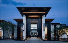 沈阳龙湖舜山府_金盘网 House Outer Design, Modern House Design, Entrance Design, Facade Design, Modern House Facades, Village House Design, Home Building Design, Modern Mansion, Dream House Exterior