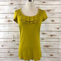 NEW NY & CO Career Top Shirt Pleated Neckline Cap Sleeves Size XS NWT    eBay