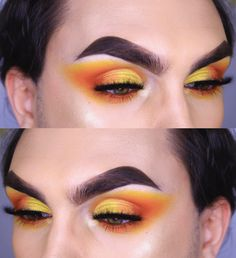 Justin Spracklin Makeup Cut Crease, Halloween Face Makeup, Make Up, Photo And Video, Orange, Inspiration, Instagram, Videos, Photos