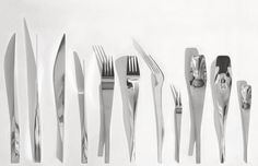 Flatware, designed by Renzo Piano and Jean Nouvel.