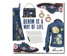 """""""Denim is a way of life!"""" by quicherz ❤ liked on Polyvore featuring J.Crew, Anouki, Alexander McQueen, Valentino and alldenim"""