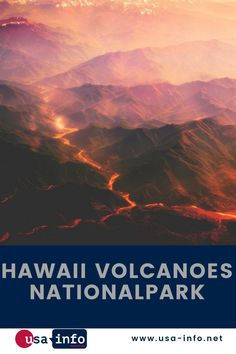 Einer der aktivsten Vulkane der Welt befindet sich im Hawaii Volcanoes Nationalpark. Aus sicherer Entfernung können Besucher den Feuer speienden Krater beim Ausbruch erleben. Die Umgebung des Kilauea-Kraters ist von faltenartigen schwarzen Lavafeldern geprägt. Hier wachsen überdimensionale Baumfarne. Die pechschwarzen Lavafelder bilden einen faszinierenden Kontrast zur palmengesäumten Küste. Bis auf wenige Meter können sich Besucher den Lavafeldern nähern. #usainfo #aboutusa #hawaii Nationalparks Usa, Hawaii Volcano, Bryce Canyon, Movie Posters, Movies, Volcanoes, Distance, Fire, Environment