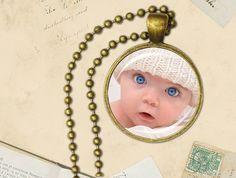 Custom Photo Pendant Necklace, personalized pendant, Baby Jewelry
