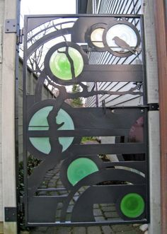 Enhance the beauty of your interior by using the metal tree wall art Metal Gates, Wrought Iron Gates, Door Gate, Fence Gate, Garden Gates And Fencing, Garden Railings, Metal Tree Wall Art, Colorful Wall Art, Gate Design