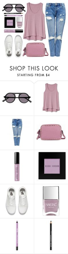 """Walking The Wire"" by smartbuyglasses ❤ liked on Polyvore featuring STELLA McCARTNEY, Gap, Valentino, Bobbi Brown Cosmetics, Vans, Nails Inc., NYX and purple"