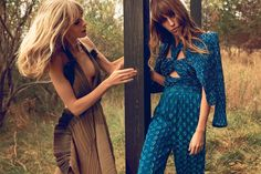 visual optimism; fashion editorials, shows, campaigns & more!: julia stegner and lou doillon by inez and vinoodh for chloé s/s 14