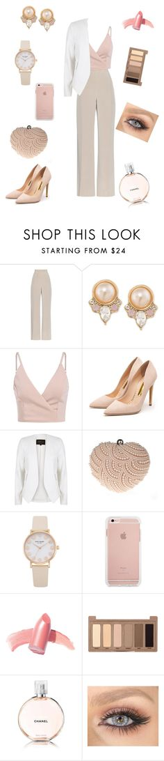 """Pink pearl"" by mikamoo1020 on Polyvore featuring MaxMara, Carolee, Rupert Sanderson, River Island, Glam Cham, Elizabeth Arden, Urban Decay and Chanel"