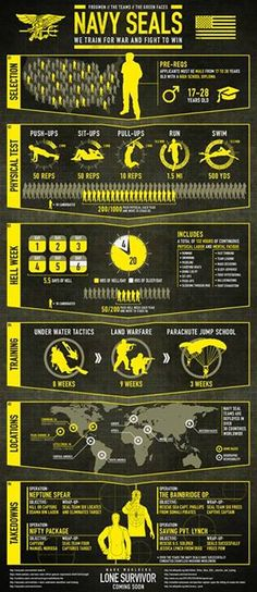 Lone Survivor - SEALs Infographic.  They are TOTAL BAD-ASS and know it! GOD BLESS THEM ALL!