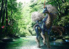 Nature's breath by dekunobou-kizakura on DeviantArt Pokemon In Real Life, 2017 Images, Deities, Worlds Largest, Breathe, Digital Art, Lion Sculpture, Creatures, Deviantart