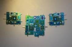 Anodized Aluminum Wall Mosaic by LauraWilsonGallery on Etsy