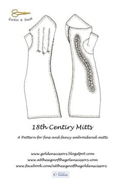 Fine and Fancy Mitt Pattern - Golden Scissors - $18.00