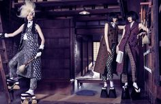 Vogue Japan November. Mark Segal and Giovanna Battaglia.