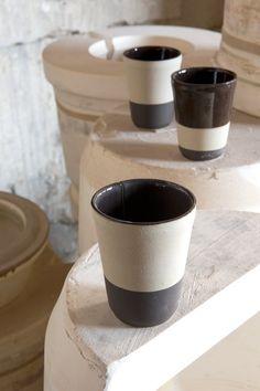 Gobelets fève tonka pour contenir, Manufacture Digoin