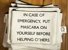 Humorous cosmetic pouch ($15). #travel #gifts #makeup