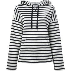 T By Alexander Wang striped hoodie (2,715 MXN) ❤ liked on Polyvore featuring tops, hoodies, sweaters, jackets, white, hooded sweatshirt, white cotton hoodie, drawstring hoodie, white hoodies and white hooded sweatshirt