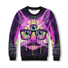 Artistic Three Eyed Cat Set