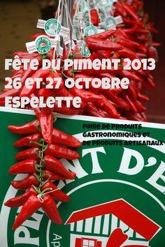 #Fête du piment d'Espelette 2013 les 26 et 27 octobre 2013