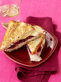 Grilled Turkey and Cranberry Sandwiches