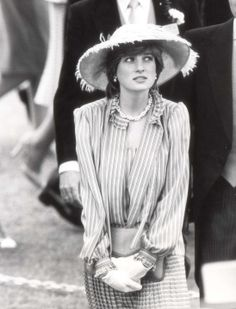 Lady Diana at Royal Ascot, 1981, just about a month before her marriage to Prince Charles