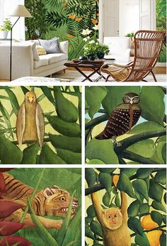 This Tropical Jungle Pattern wallpaper is Specially Designed and Custom Made to fit almost Any Size of Your Walls! As a great revolution of