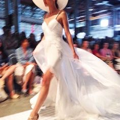 The Mia gown featured on the runway. @onefinedayweddingfairs #MoiraHughes #Couture